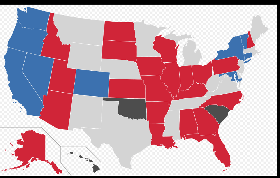 2016 Open Seat map